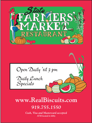 Menu at the State Farmers Market Restaurant | Raleigh NC